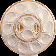 Lovely Vintage French Majolica Osyter Platter