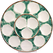 Wonderful Vintage French Longchamp Majolica Oyster Platter