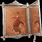 French Antique Art Nouveau mirror triptych Circa 1920