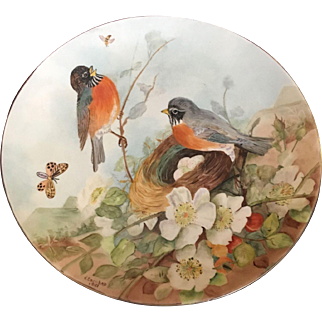 Small Hand Painted Plate by V. Escobar 1951.