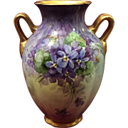 Beautiful Hand Panted French Vase