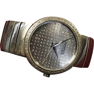 Vintage Croton Diamond Watch Water Resistant to 3Atm Swiss Movement