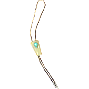 Vintage Men's Bolo Tie with Onyx and Turquoise