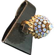 14k Gold Princess Ring with Fire Opal