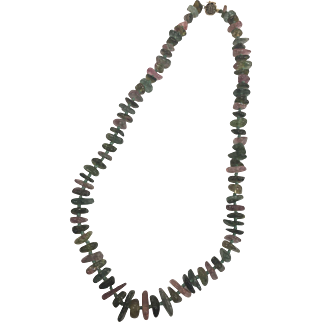 Chinese Tourmaline Necklace with a Gold Clasp