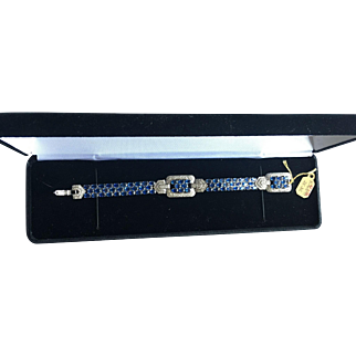 Beautiful White Gold Bracelet with Sapphires and Diamonds