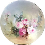 Limoges DC France Hand Painted Plate by F.B Aulich (for M.Renolds)
