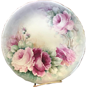 Beautiful French Hand Painted Plate 1953