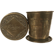 Knox Victorian Collapsible Bicycle Cup Patented Feb 23rd 1897