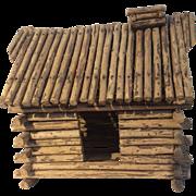 Vintage Hand Made Log Cabin