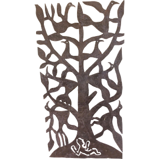 19 Century Hand Made Folk Primitive Metal Cutout