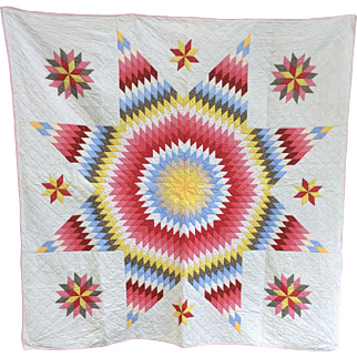 Vintage Star Quilt from Pa 1930s