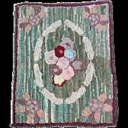 1900s Hand Made Rag Rug
