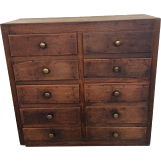 Vintage Custom 10 Draw Cabinet