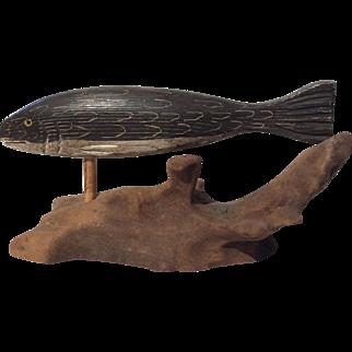 Vintage Hand Carved Fish Decoy