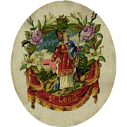 Antique French Tapestry of Saint Louis