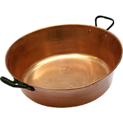 French Copper Preserve Pan. Jam Pot. French Copper Cookware.