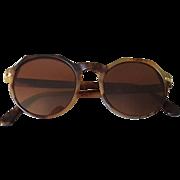 1990's Vintage Giorgio Armani Matte Tortoise Glasses Frames