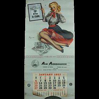 1957 Air Associates Teterboro Air Terminal Calendar
