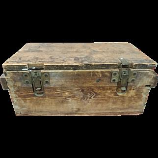 Early 1900's Wooden Toolbox from Newark, NJ Docks