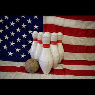 Vintage Duck Pin Bowling Set
