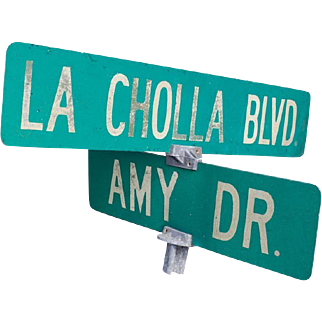 La Cholla Boulevard Cross Street Sign