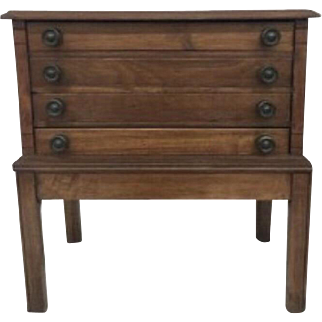 Antique Three Drawer Spool Cabinet