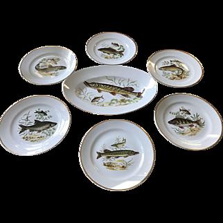 Vintage Naaman 7 Piece Fish Set