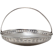 Tiffany Sterling Pierced Handled Basket