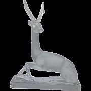 Lalique Cerf Deer Statue