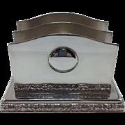 Silverplate Barker Ellis Letter Holder