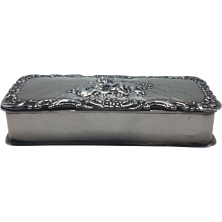 Sterling English Cherub Rectangle Dresser Box