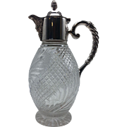 English Silverplate and Cut Crystal Claret Jug