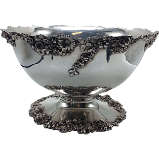 Redlich & Co Sterling Floral Applied Border Bowl