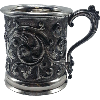 Victorian Silverplate Mustache Cup by Rogers Smith and Co circa 1880