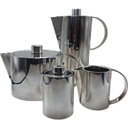 Sterling Silver ur-Piece Coffee Set by Calvin Klein for Swid Powell