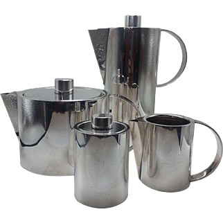 Sterling Silver Four-Piece Coffee Set by Calvin Klein for Swid Powell