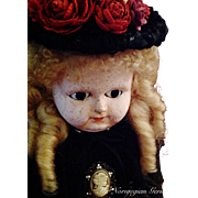 Elegant, Early Wax Over Papier Maché German Doll
