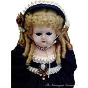 "1800s Lovely Early Wax-Over Papier Maché Doll ~ 21"" ~ Germany"