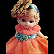 Dainty Vintage Flapper Kewpie Bisque Doll ~ 6.5in.