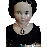 Elegant Antique China Head Doll ~ 16in