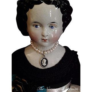 Elegant Antique China Head Doll ~ 16in