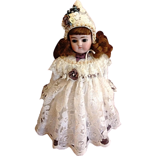 """Darling Early Alphabet Antique Kestner Doll ~ Closed Mouth ~ Brown Eyes ~ 12"""" ~ """"G"""""""