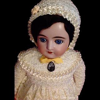 """Delicate Antique Johann Kestner Alphabet Doll ~ """"K"""""""