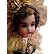 """RESERVED FOR CLIENT   Precious Cabinet Sized Antique Kestner Doll ~ 11"""" ~ 1800s Germany"""