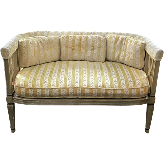 Hollywood Regency Provincial Settee Sofa
