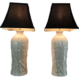 Palm Regency Faux Bamboo Lamps