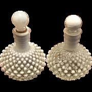 Pair Fenton Hobnail Barber Bottle, 20th C