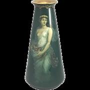 Matt Green Jugendstil German Art Nouveau) Art Pottery Vase