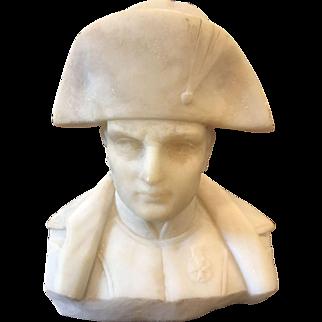 "19thC Tourist Souvenir Bust of Napoleon Bonaparte, 8"""
